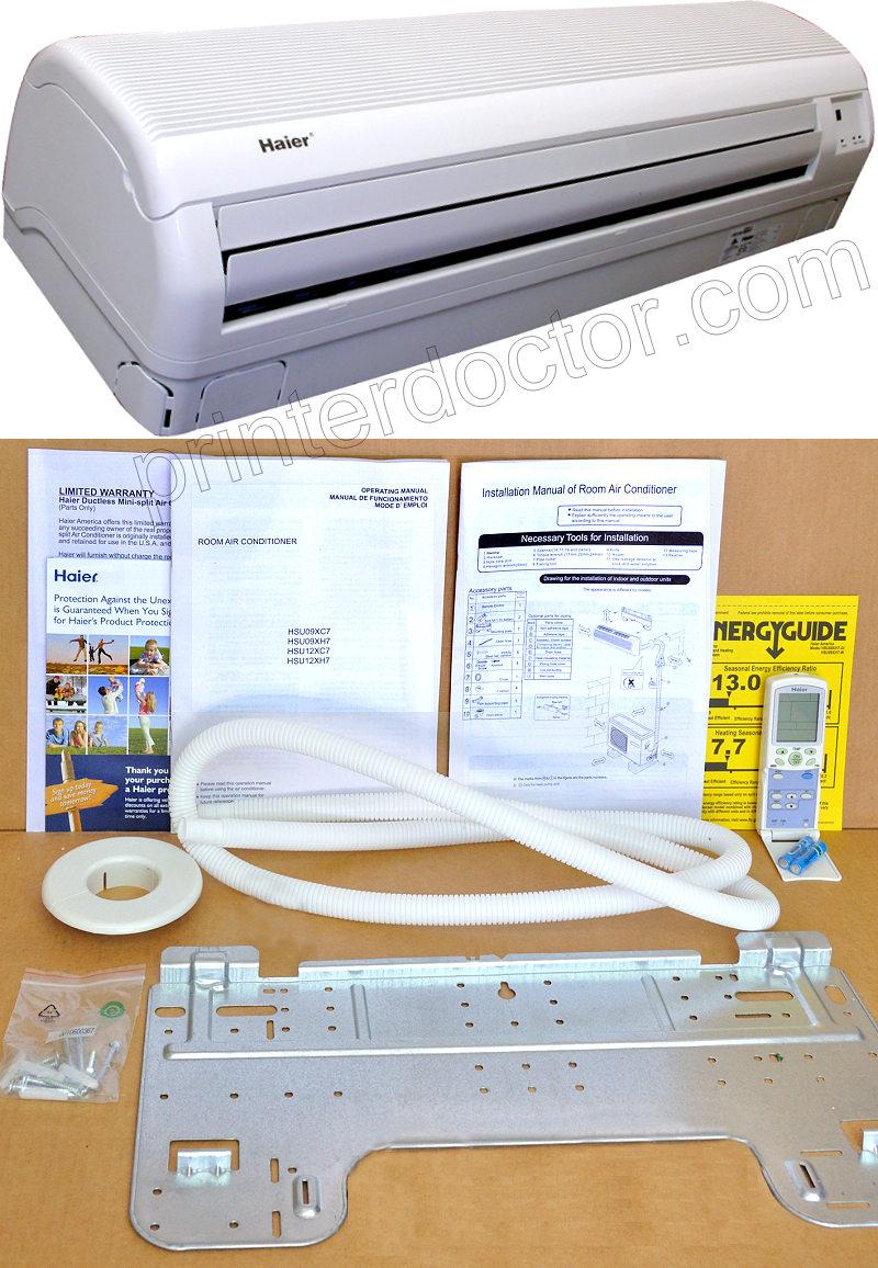 Haier 2 Ton Mini Split Air Conditioner Heat Pump A C