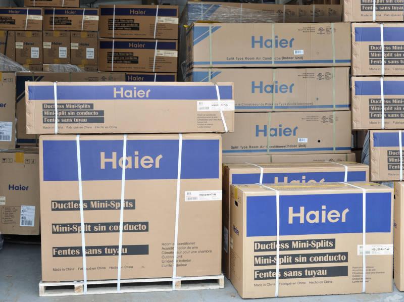 27000 ton 3 room haier mini split air conditioner heat pump whole house set. Black Bedroom Furniture Sets. Home Design Ideas
